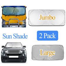 100 Truck Windshield Visor 2 PACK FOLDABLE Jumbo Large CarSUV Sun Shade