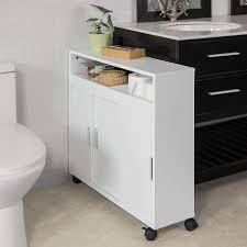 sobuy bzr02 w nischenschrank badrollwagen seitenschrank badezimmerregal badschrank mit ablage