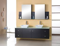 Bathroom Makeup Vanity Cabinets by Chic Decorating Ideas Using Small White Wall Lamps And Rectangular