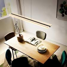 led pendelleuchte büro 32w dimmbar mit fernbedienung pendelle esstisch höhenverstellbar hängeleuchte aus acryl panelleuchte für hängele