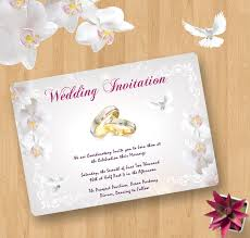 Postcard Style Wedding Invitation Template Psd