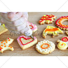 Decorated Shortbread Cookies by Christmas Shortbread Cookies Gl Stock Images