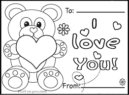 Printable Valentines Day Cards Teddy BearsFree Coloring