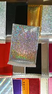 Decorative Air Bubble Mailers by Holographic Bubble Mailer Custom Padded Envelopes Metallic Bubble