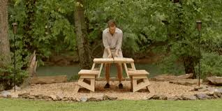 Plans To Build A Wooden Picnic Table by How To Build A Convertible Picnic Table That U0027s Made From Two
