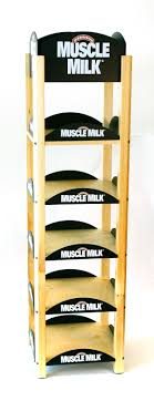 MUSCLE MILK BEVERAGE WOOD RETAIL DISPLAY