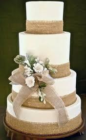50th Anniversary Party Burlap Wedding CakesBurlap