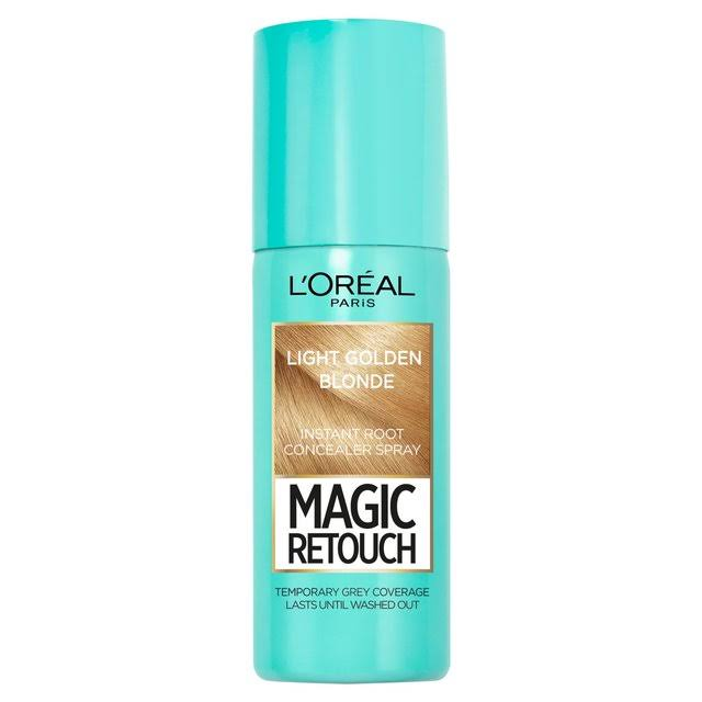 L'Oreal Magic Retouch Temporary Instant Grey Root Concealer Spray - Light Golden Blonde, 75ml