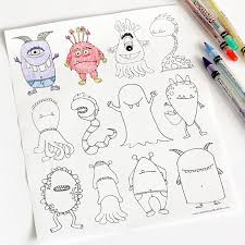 Monsters For Your Kids To Color