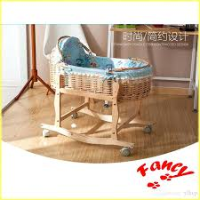 Baby Cribs With Wheels Newest Baby Swing Bed Baby Cradle Straw