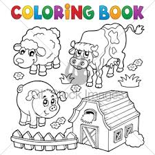 Coloring Book With Farm Animals 6