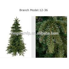 PE Plastic Artificial Christmas Tree Pine Branches For Making Christams TreeDifferent Colors And Model