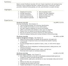 Free Sample Resume For Warehouse Manager Of Download