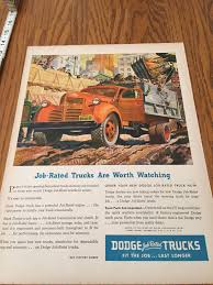 100 Classic Dodge Truck Parts Catalog Old Ad 1945 Life Magazine Vintage Red Etsy