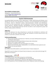 Sample Resume For Experienced Linux System Administrator Administration Resumes Dadaji Us