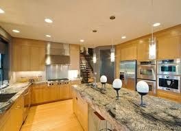 kitchen idea of the day modern light wood kitchen with a dramatic