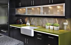 Contemporary Kitchen Before After A Study In Green