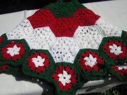 Christmas Tree Skirt In Red White And Green By Crochetedbycharlene 6000