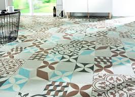 sol vinyle imitation carreau de ciment maison design bahbe