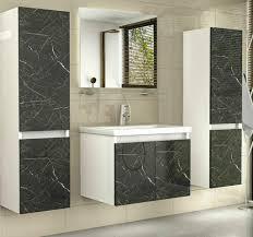 badmöbel set weiss marmor optik hochglanz badezimmermöbel 6 teilig bad spiegel spiegel ablage unterschrank waschtisch 2x hochschrank