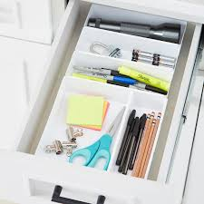Desk Drawer Organizer Diy by Rubbermaid Interlocking Drawer Organizers The Container Store
