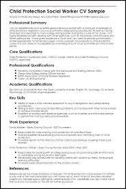 Social Worker Sample Resume Child Protection Work