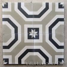 pattern encaustic cement tile with a formal octagonal
