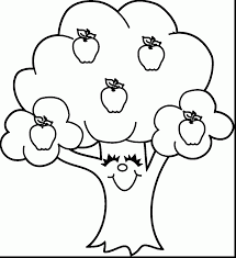 Coloring Page Apple Tree In
