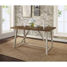 Better Homes Gardens Collin Wood And Metal Dining Table Comfortably Seats 4 Distressed