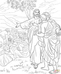 Jesus Feeds The Multitude With Fish And Bread Coloring Page In 5000 Pages