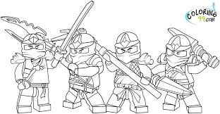 Lego City Train Coloring Pages Ninja Throughout