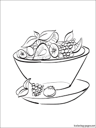 Salad clipart coloring 1