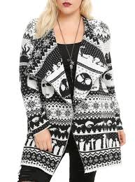 Nightmare Before Christmas Bathroom Decor by The Nightmare Before Christmas Fair Isle Cardigan Plus Size