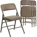 Meco Padded Folding Chairs by Amazon Com Meco Square Folding Table 34 By 34 Inch Buff