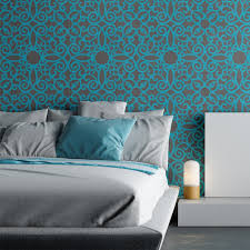 Wall Stencil Pattern Kalaat Allover For Modern Painting Decor