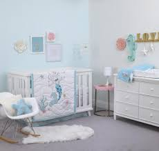 Little Mermaid Crib Bedding by Disney Baby Little Mermaid Ariel Sea Princess Aqua White Pink
