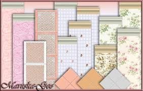 Wallpaper And Floor Tiles For Shabby Chic Kitchen At Maruska Geo Image 8410 Sims