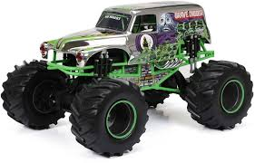 New Bright R/C F/F 12.8-Volt 1:8 Monster Jam Grave Digger, Chrome ... New Bright Rc Monster Jam Truck Grave Digger Toysrus 124 Ff Twin Pack Colors And Styles Rc Trucks Youtube Radio Control 18 Scale W Buy El Toro 115 40mhz Amazoncom Sf Hauler Set Car Carrier With Two Mini Walmartcom 110 24 Ghz Grave Digger Kids Toy
