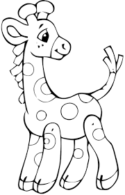 Baby Giraffe Easy Coloring PagesAnimal