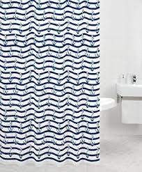 Sabichi Hope and Anchor Shower Curtain Amazon Kitchen & Home