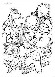 Wolf Destroys Wood House Coloring Page