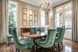 Formal Dining Room Traditional With Bold Coffered Ceiling Transitional Side Chairs