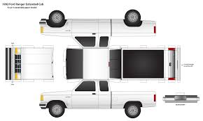 Old Fire Trucks Paper Model Template