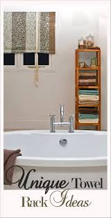 Unique Towel Rack Ideas LOVE These How To Build It Portable Laundry Rack Bathroom Cabinet With Towel Rod Inspirational Magnificent Various Towel Bar Rack Design Ideas Home 7 Ways To Add Storage A Small Thats Pretty Too Bathroom Bar Ideas Get Such An Accent Look Awesome 50 Graph Foothillfolk Archauteonluscom Modern Bars Top 10 Most Popular Rail And Get Free For Bathrooms Fancy Decorative Brushed Nickel Racks And Strethemovienet