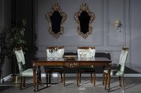 casa padrino luxus barock esszimmer set mintgrün braun 1 esstisch 6 esszimmerstühle edle esszimmer möbel im barockstil