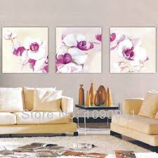 Hand Painted 3 Pcs Abstract Flower Wall Paintings Unique Modern Art Living Room Decor Canvas Oil