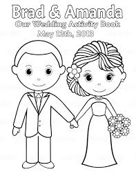 Printable Personalized Wedding coloring activity book Favor Kids