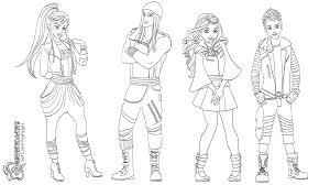 Free Descendants Cartoon Coloring Pages For Kids