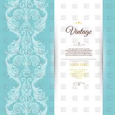 Luxury Decoration Wedding Invitation Template Stock Vector Image