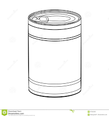 Hand drawing Food Can Vector Illustration Hand drawn sketch of Food Can isolated